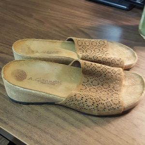 A. Gianetti suede sandals